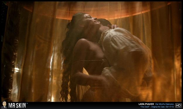 Lara Pulver nude in Da Vinci's Demons