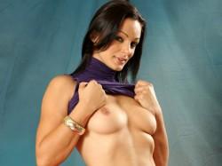 Cameron Cruz flashing her boobs for Anilos