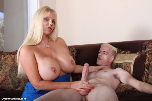 Karen Fisher giving Jim a handjob