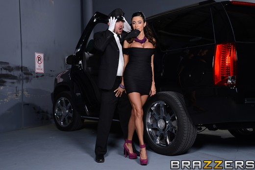Ariella Ferrera groping her driver's penis