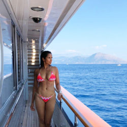 Indian celebrity MILF Padma Lakshmi in bikini